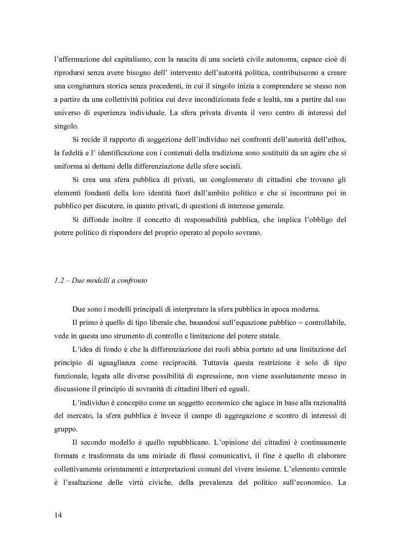 Anteprima della tesi: Da Bologna (io) a Bologna (noi). La democrazia e le nuove tecnologie della comunicazione, Pagina 5