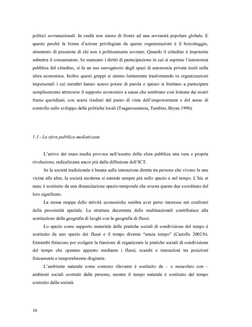 Anteprima della tesi: Da Bologna (io) a Bologna (noi). La democrazia e le nuove tecnologie della comunicazione, Pagina 7