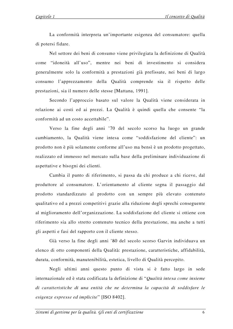 Anteprima della tesi: Sistemi di gestione per la qualità. Gli Enti di Certificazione, Pagina 4