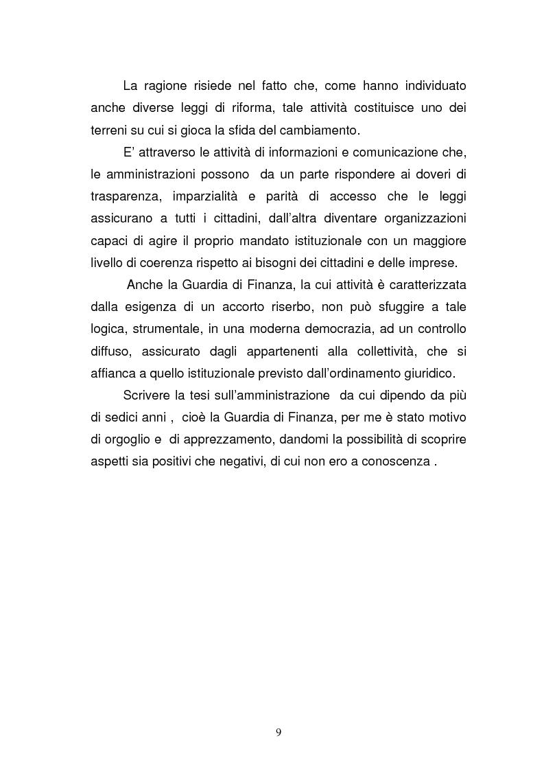 Anteprima della tesi: La Guardia di Finanza nell'era della comunicazione, Pagina 2