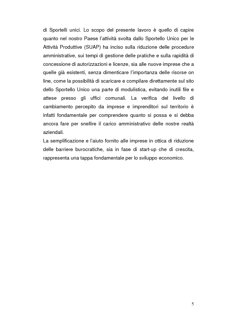 Anteprima della tesi: Semplificazione amministrativa e diffusione dell'imprenditorialità, Pagina 2
