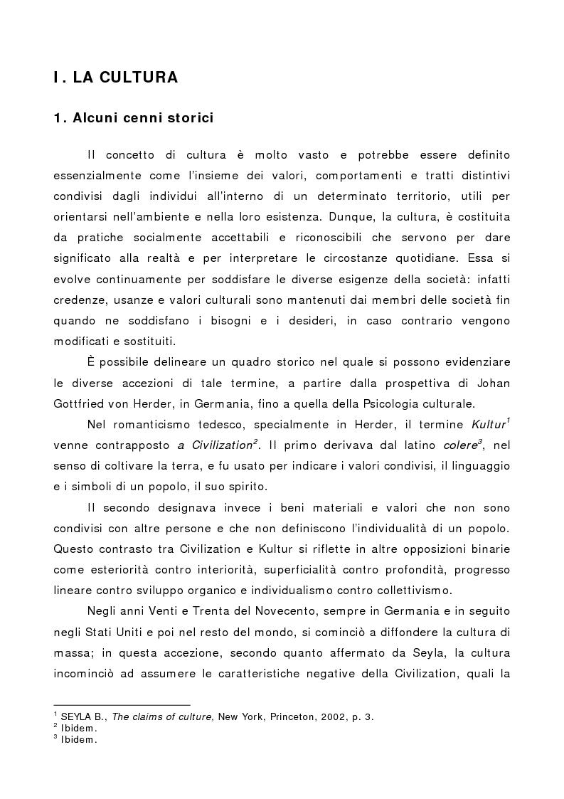 Anteprima della tesi: La società multiculturale: comprendere l'altro, Pagina 1