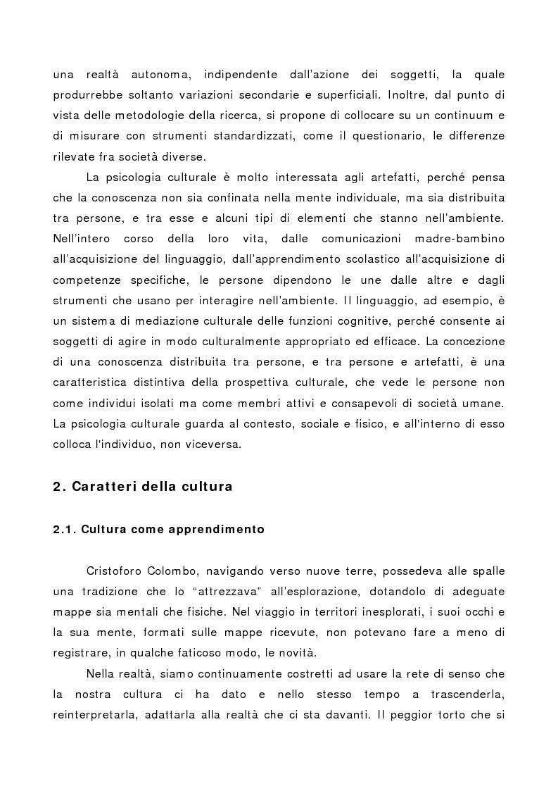 Anteprima della tesi: La società multiculturale: comprendere l'altro, Pagina 3