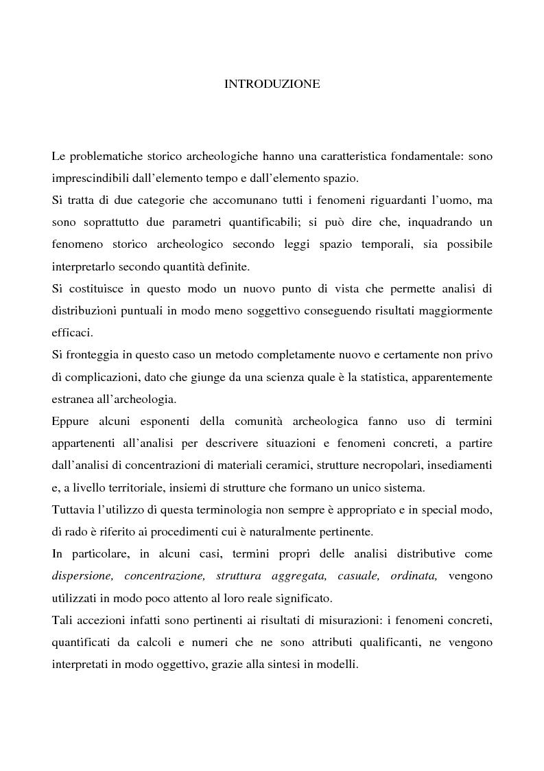 Anteprima della tesi: Le ville romane in Sardegna - Contributo dell'analisi spaziale alla ricerca, Pagina 1