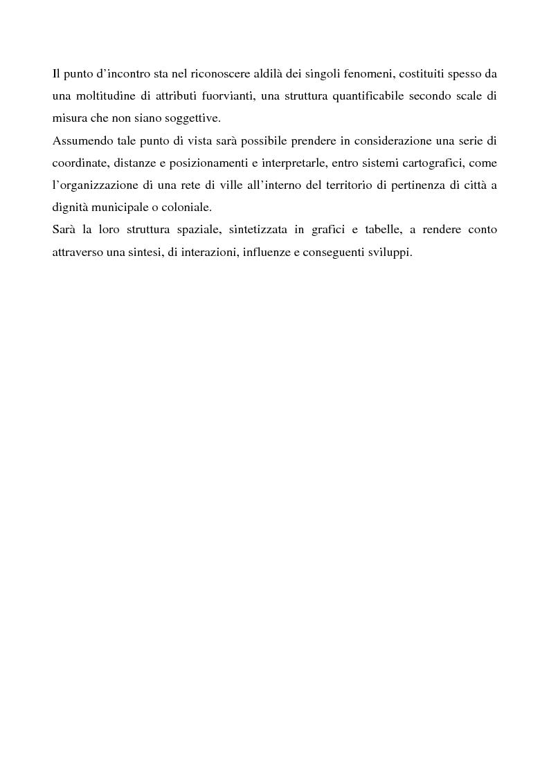 Anteprima della tesi: Le ville romane in Sardegna - Contributo dell'analisi spaziale alla ricerca, Pagina 5