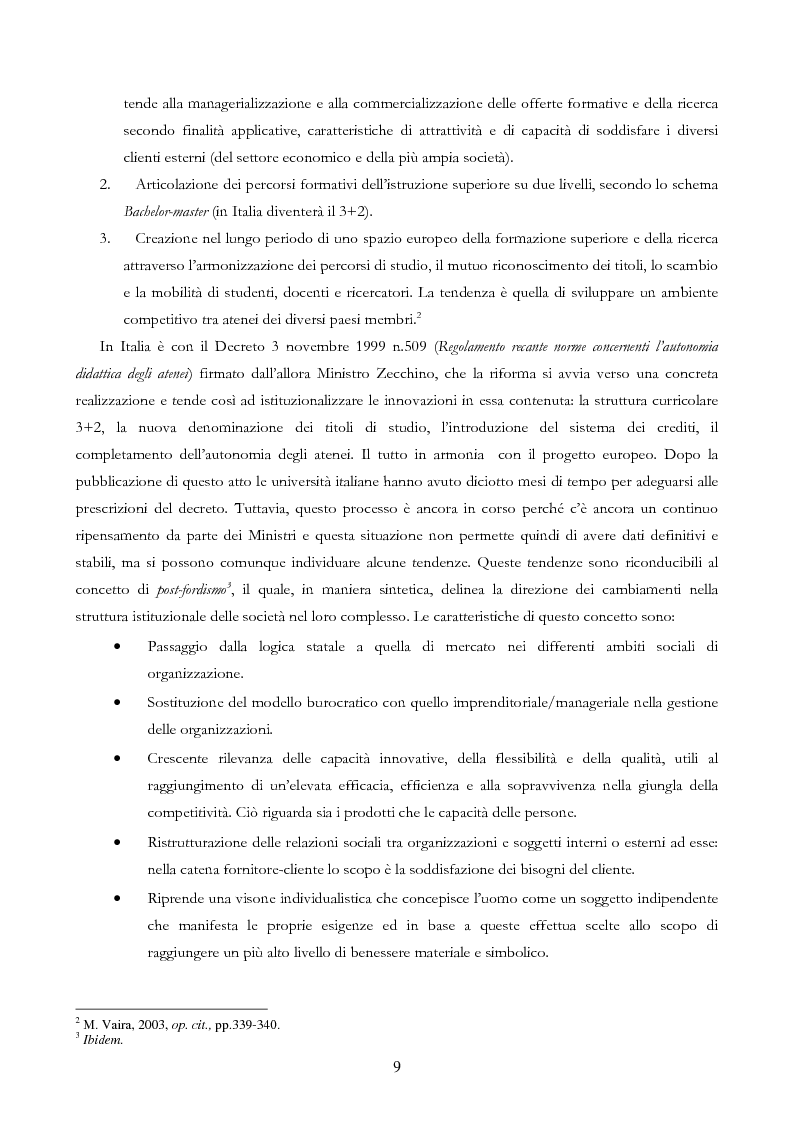 Anteprima della tesi: Università e Comunicazione: i casi di Ferrara e Pavia a confronto, Pagina 6
