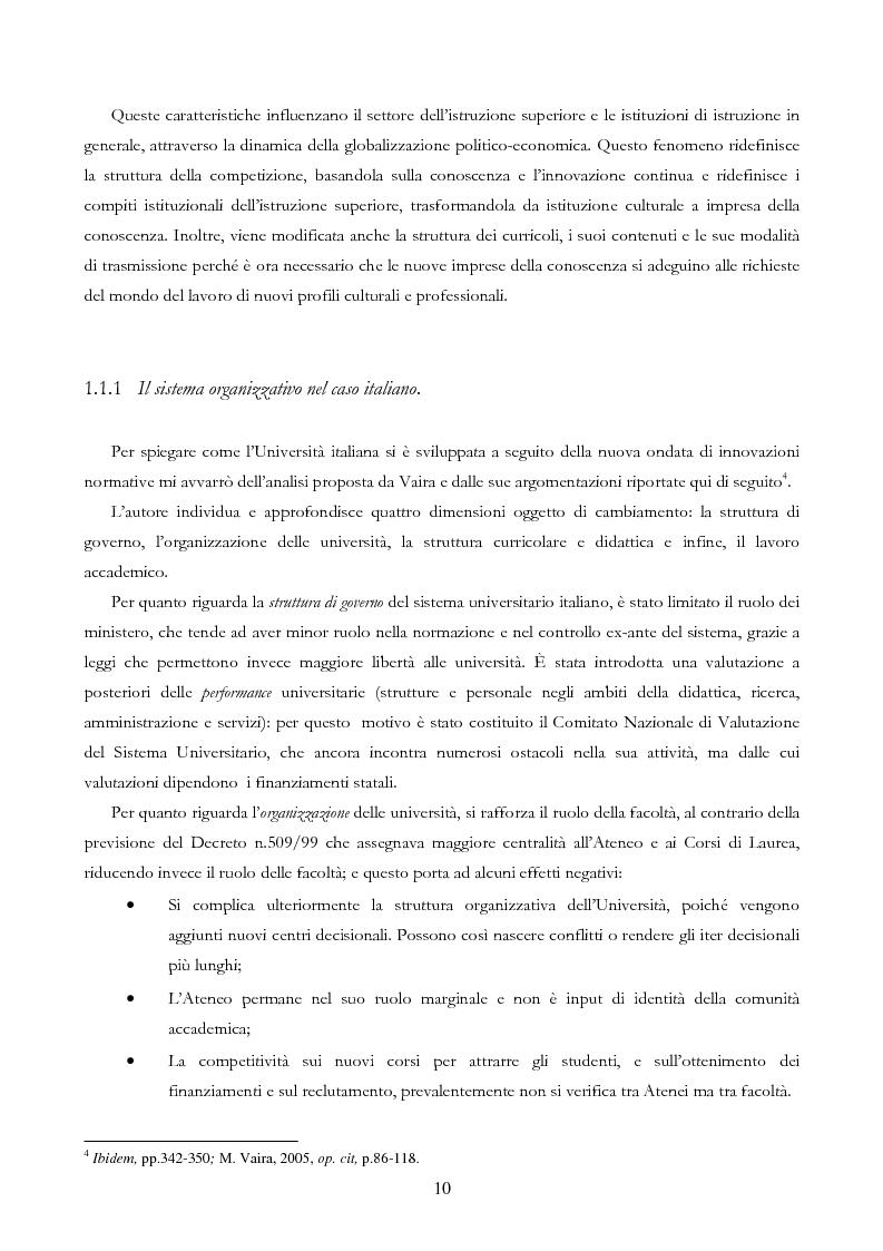 Anteprima della tesi: Università e Comunicazione: i casi di Ferrara e Pavia a confronto, Pagina 7