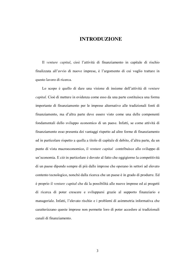 Anteprima della tesi: Il ruolo del venture capital nello sviluppo economico: forze motrici e strategie dei governi, Pagina 1