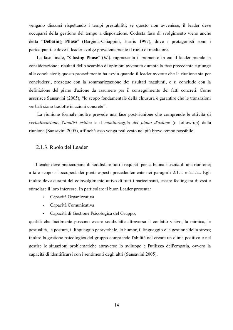 Anteprima della tesi: Un'analisi linguistica di una riunione informale in Inglese come Lingua Franca, Pagina 12