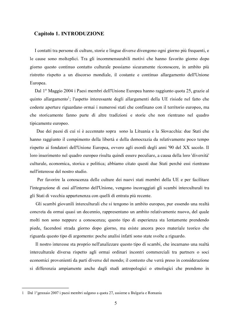 Anteprima della tesi: Un'analisi linguistica di una riunione informale in Inglese come Lingua Franca, Pagina 3