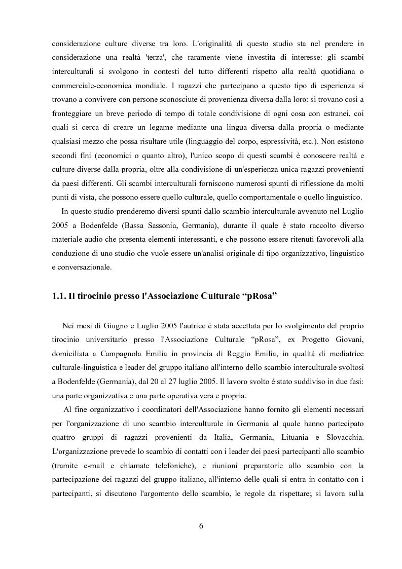 Anteprima della tesi: Un'analisi linguistica di una riunione informale in Inglese come Lingua Franca, Pagina 4