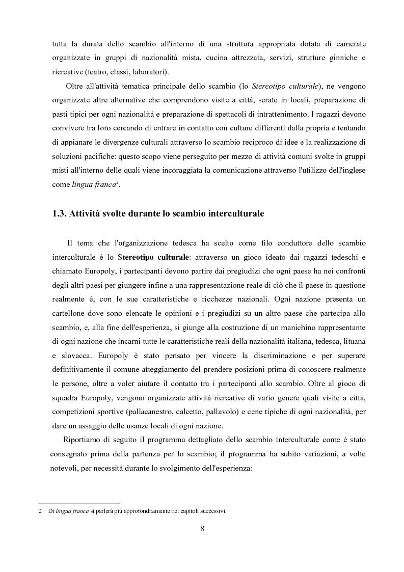 Anteprima della tesi: Un'analisi linguistica di una riunione informale in Inglese come Lingua Franca, Pagina 6
