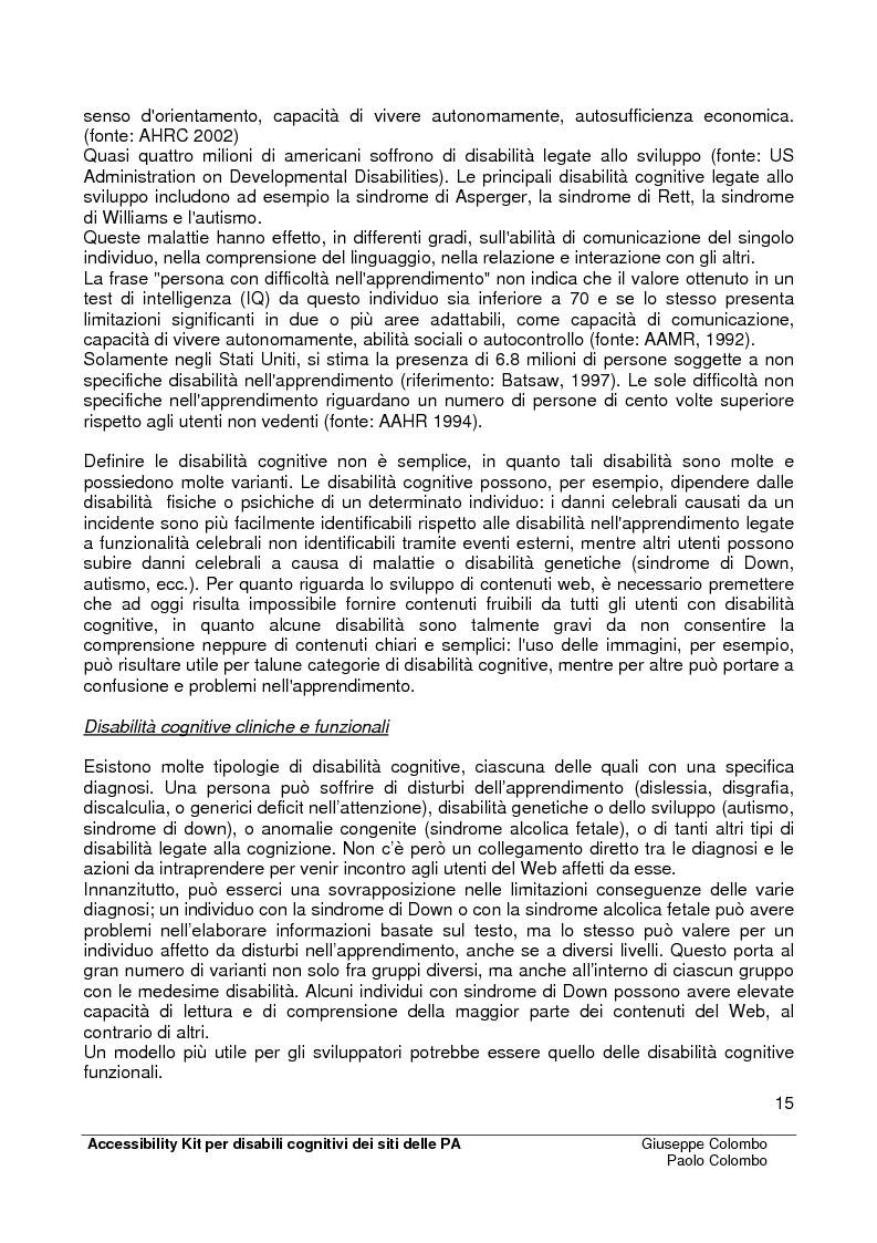 Anteprima della tesi: Accessibility Kit: Valutazione dell'Accessibilità dei siti web della Pubblica Amministrazione per gli utenti con disabilità cognitive, Pagina 11