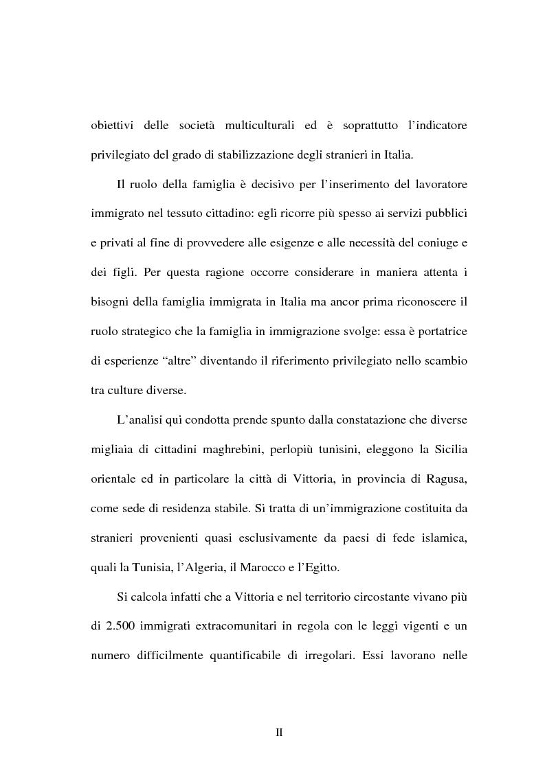 Anteprima della tesi: Immigrazione e ricongiungimento familiare. Uno studio sulla comunità islamica di Vittoria, Pagina 2