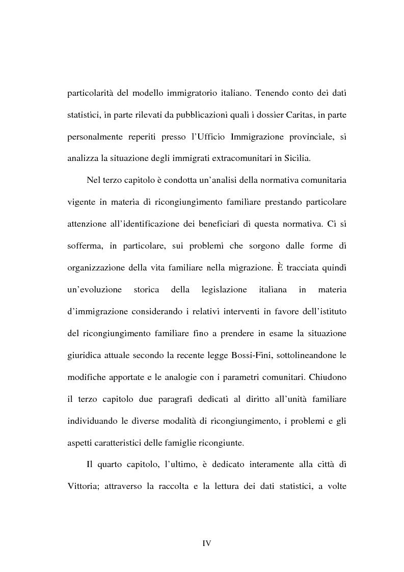 Anteprima della tesi: Immigrazione e ricongiungimento familiare. Uno studio sulla comunità islamica di Vittoria, Pagina 4