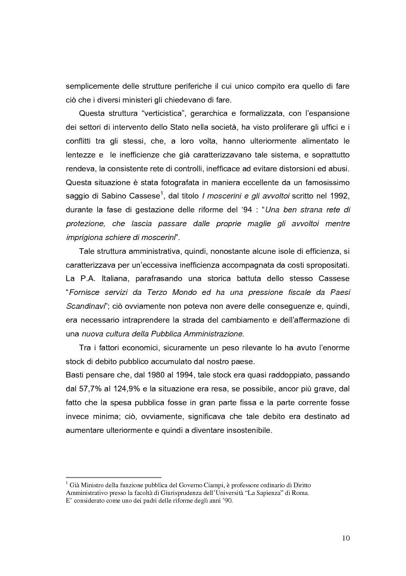 Anteprima della tesi: La valutazione dei Dirigenti nella P.A. locale: esperienze a confronto, Pagina 10