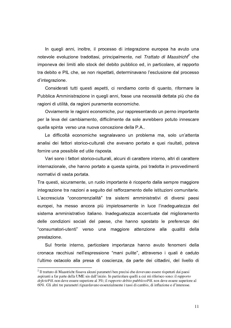 Anteprima della tesi: La valutazione dei Dirigenti nella P.A. locale: esperienze a confronto, Pagina 11
