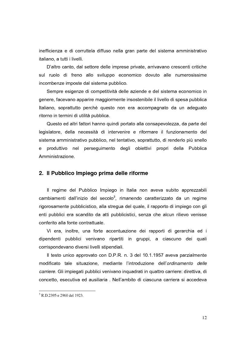Anteprima della tesi: La valutazione dei Dirigenti nella P.A. locale: esperienze a confronto, Pagina 12