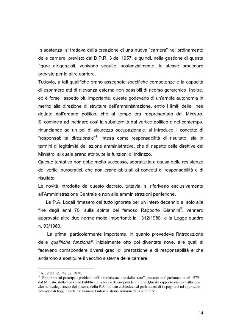 Anteprima della tesi: La valutazione dei Dirigenti nella P.A. locale: esperienze a confronto, Pagina 14
