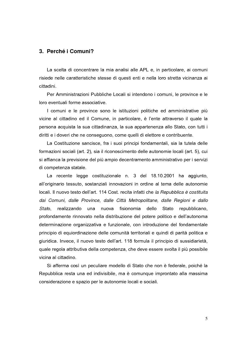 Anteprima della tesi: La valutazione dei Dirigenti nella P.A. locale: esperienze a confronto, Pagina 5