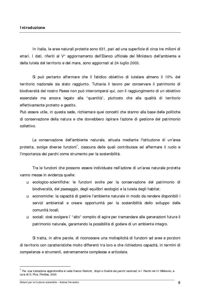 Anteprima della tesi: Sistemi per la fruizione sostenibile, Pagina 1