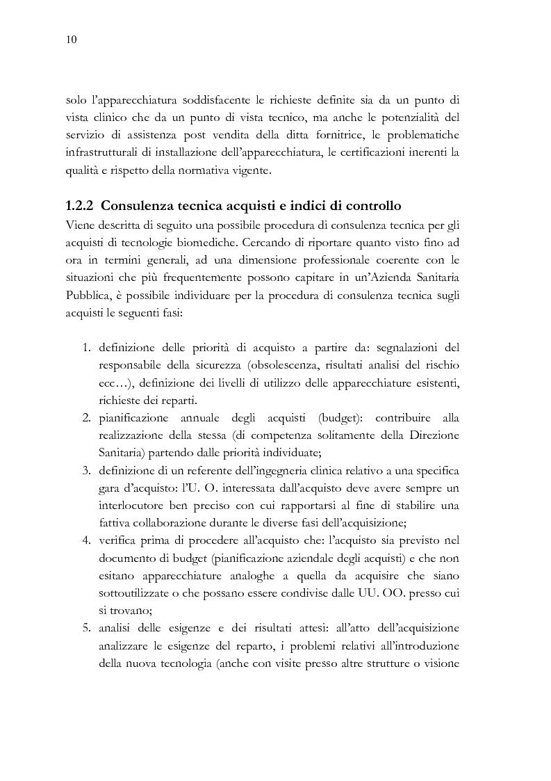 Anteprima della tesi: Analisi e stesura delle specifiche tecniche ai fini del miglior acquisto di sistemi medicali coerentemente con la 2004/18/CE, Pagina 10