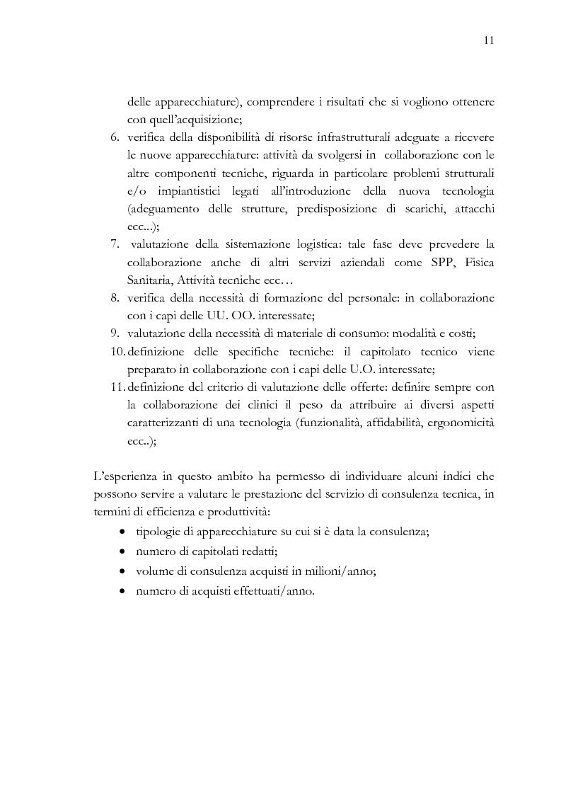 Anteprima della tesi: Analisi e stesura delle specifiche tecniche ai fini del miglior acquisto di sistemi medicali coerentemente con la 2004/18/CE, Pagina 11
