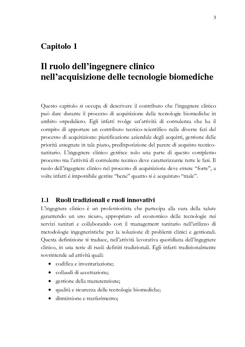 Anteprima della tesi: Analisi e stesura delle specifiche tecniche ai fini del miglior acquisto di sistemi medicali coerentemente con la 2004/18/CE, Pagina 3