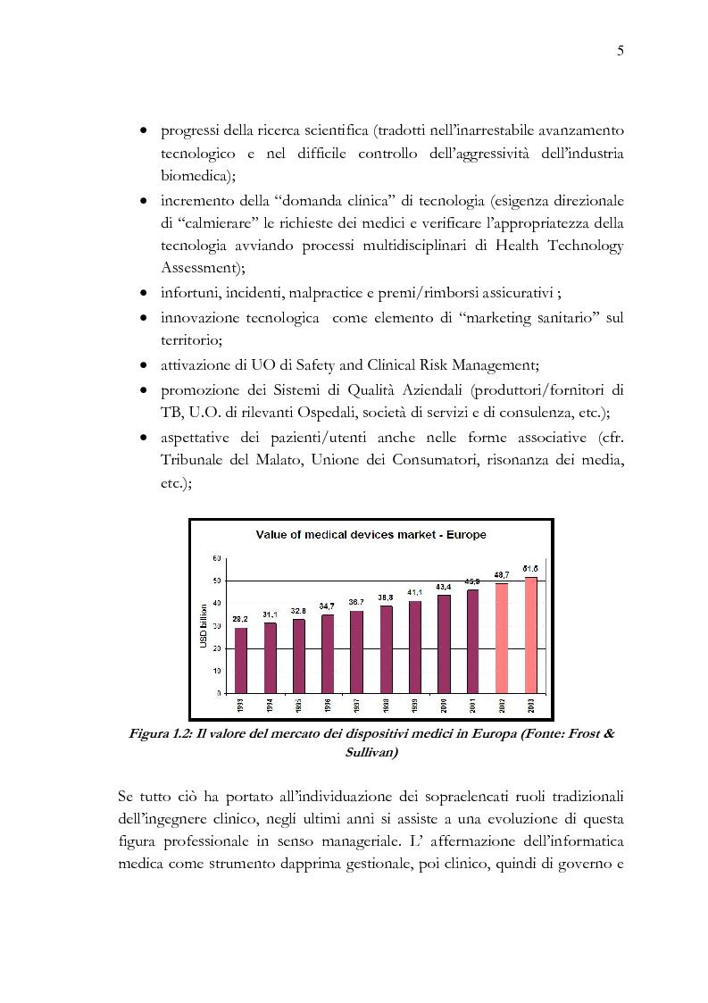 Anteprima della tesi: Analisi e stesura delle specifiche tecniche ai fini del miglior acquisto di sistemi medicali coerentemente con la 2004/18/CE, Pagina 5