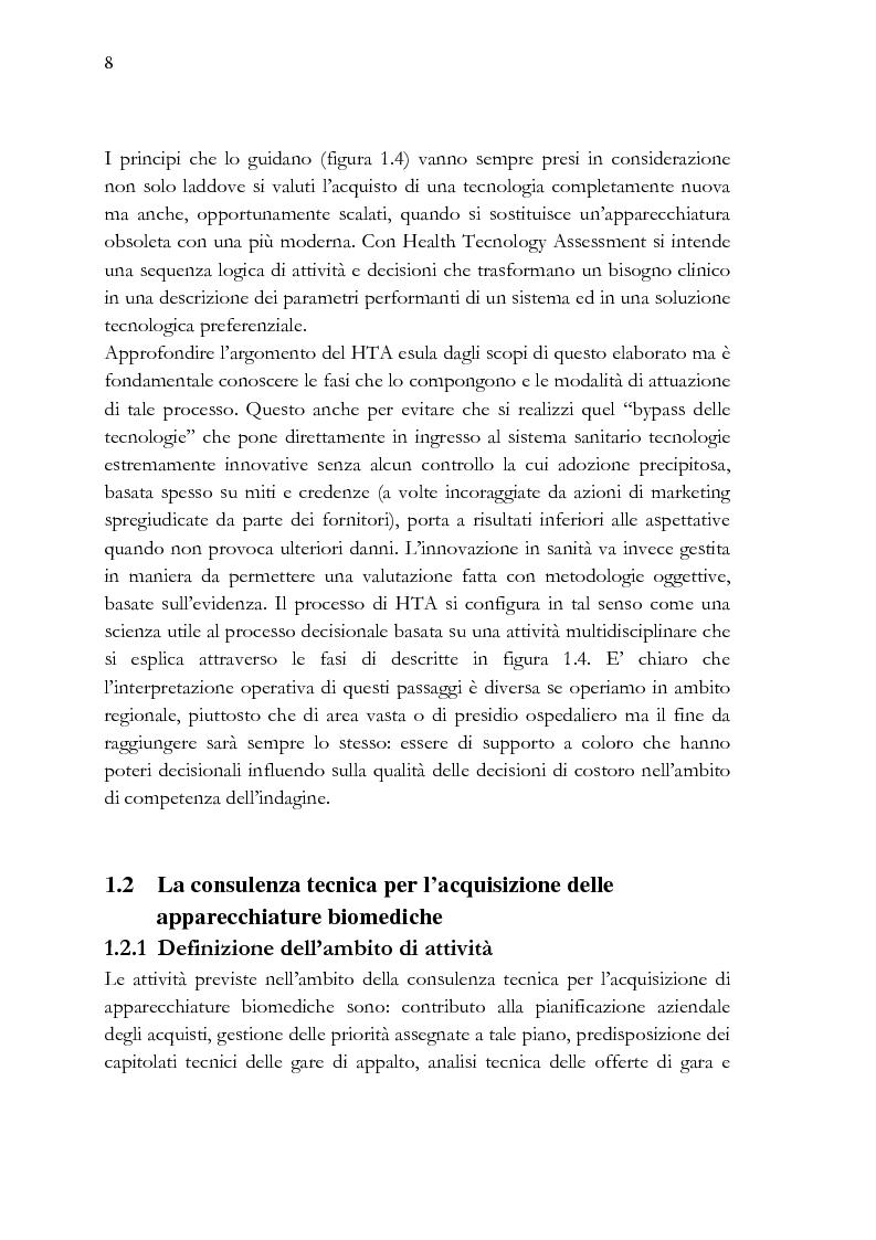Anteprima della tesi: Analisi e stesura delle specifiche tecniche ai fini del miglior acquisto di sistemi medicali coerentemente con la 2004/18/CE, Pagina 8