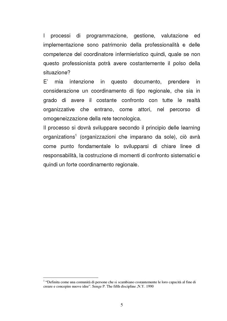 """Anteprima della tesi: Ruolo del coordinatore nella realizzazione di una rete tecnologica unica delle centrali operative """"118"""" della Regione Emilia Romagna, Pagina 3"""
