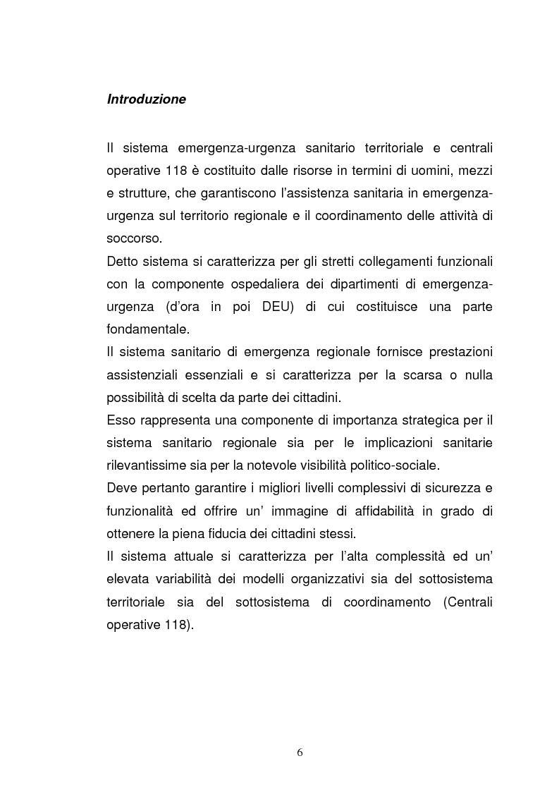"""Anteprima della tesi: Ruolo del coordinatore nella realizzazione di una rete tecnologica unica delle centrali operative """"118"""" della Regione Emilia Romagna, Pagina 4"""
