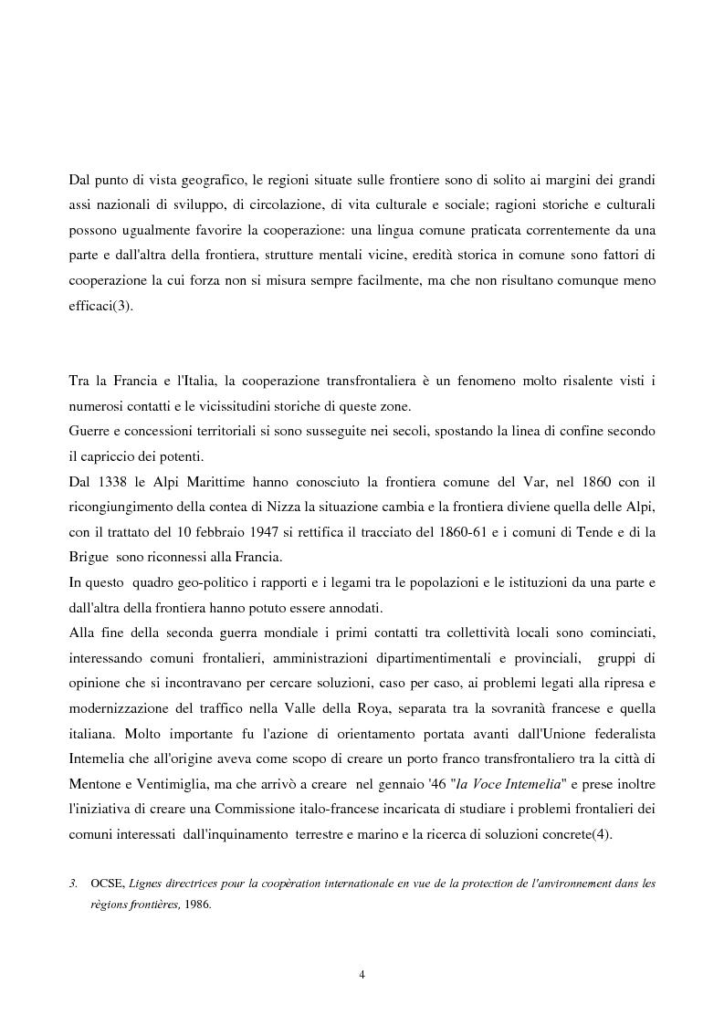 Anteprima della tesi: Gli strumenti giuridici per la cooperazione transfrontaliera italo-francese, Pagina 3