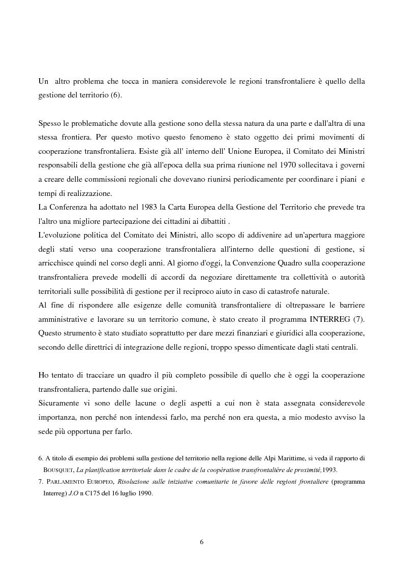 Anteprima della tesi: Gli strumenti giuridici per la cooperazione transfrontaliera italo-francese, Pagina 5