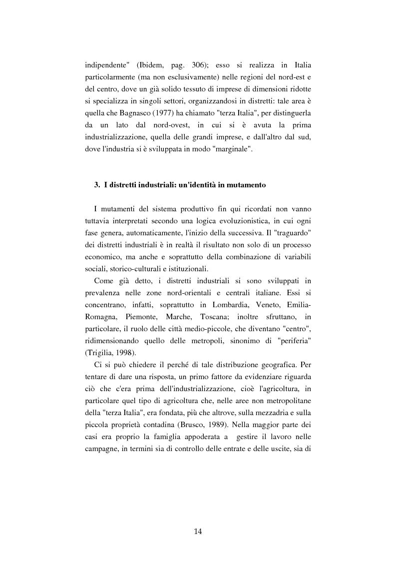 Anteprima della tesi: Mutamenti del lavoro tra dipendenza e autonomia. Un inquadramento teorico ed una ricerca in Emilia Romagna, Pagina 11
