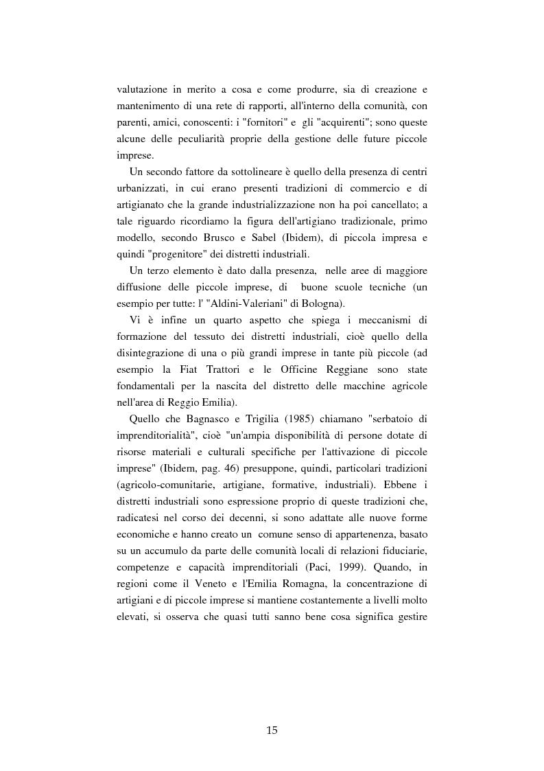 Anteprima della tesi: Mutamenti del lavoro tra dipendenza e autonomia. Un inquadramento teorico ed una ricerca in Emilia Romagna, Pagina 12