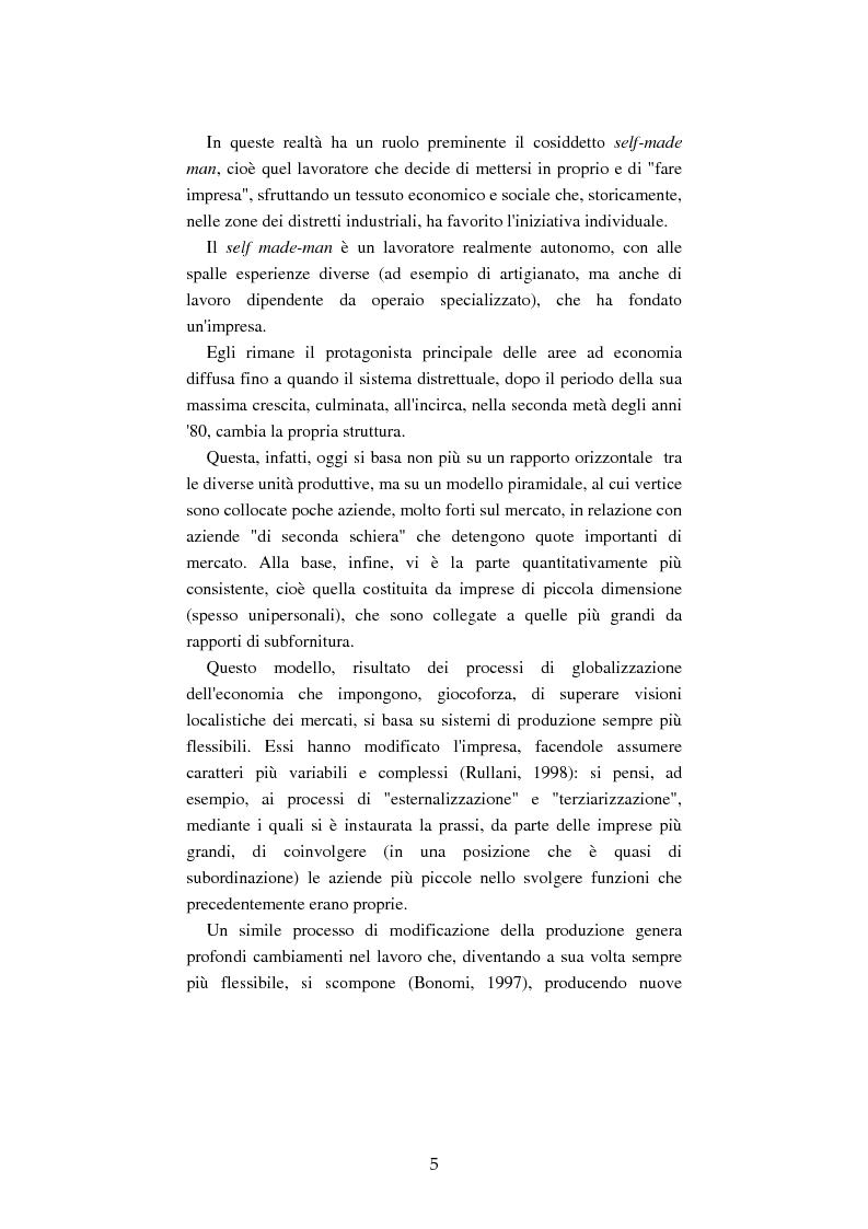 Anteprima della tesi: Mutamenti del lavoro tra dipendenza e autonomia. Un inquadramento teorico ed una ricerca in Emilia Romagna, Pagina 2