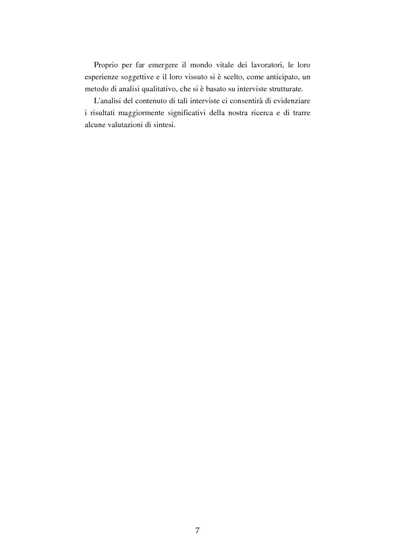 Anteprima della tesi: Mutamenti del lavoro tra dipendenza e autonomia. Un inquadramento teorico ed una ricerca in Emilia Romagna, Pagina 4