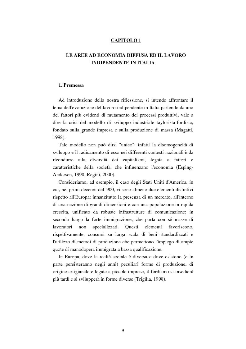 Anteprima della tesi: Mutamenti del lavoro tra dipendenza e autonomia. Un inquadramento teorico ed una ricerca in Emilia Romagna, Pagina 5