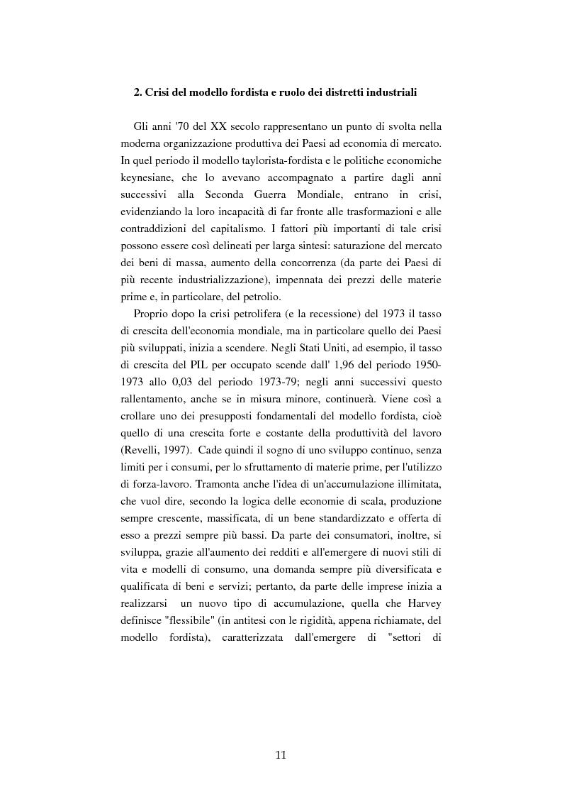 Anteprima della tesi: Mutamenti del lavoro tra dipendenza e autonomia. Un inquadramento teorico ed una ricerca in Emilia Romagna, Pagina 8