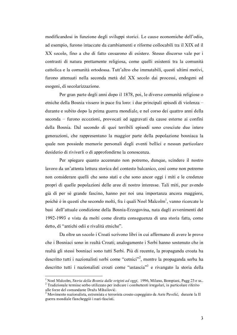 Anteprima della tesi: Il conflitto bosniaco. Fra confini e pulizia etnica., Pagina 2