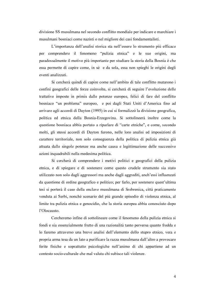 Anteprima della tesi: Il conflitto bosniaco. Fra confini e pulizia etnica., Pagina 3