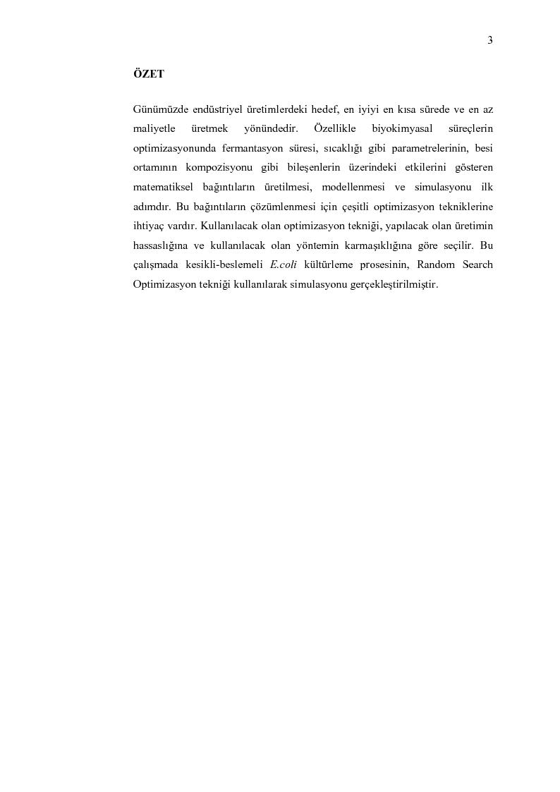 Anteprima della tesi: Random search optimizasyon algoritmasinin biyoproseslerde uygulanmasi, Pagina 1