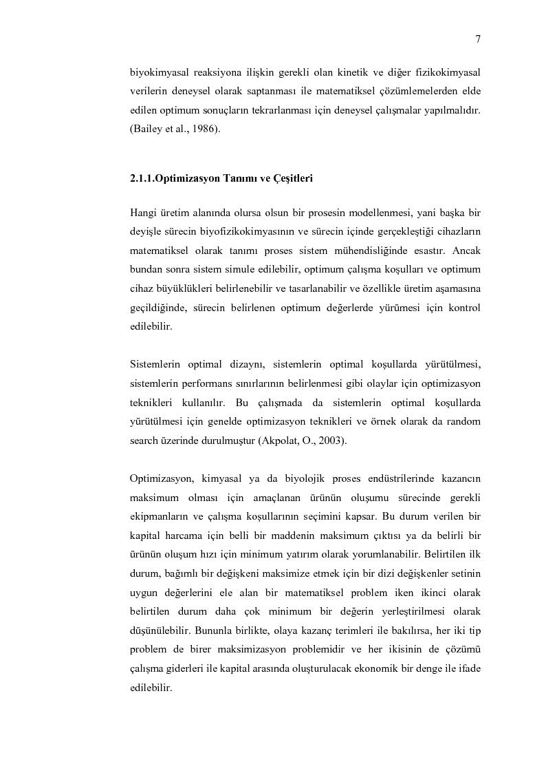 Anteprima della tesi: Random search optimizasyon algoritmasinin biyoproseslerde uygulanmasi, Pagina 5