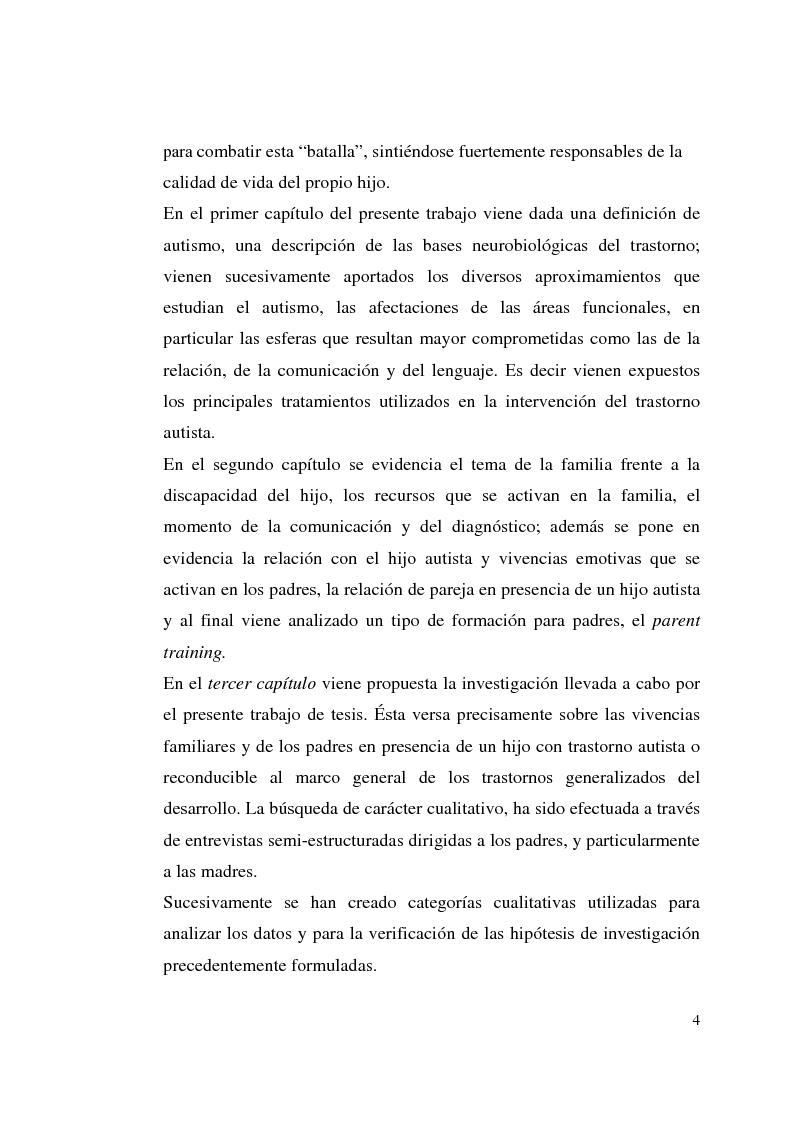 Anteprima della tesi: Autismo y vivencias familiares, Pagina 2