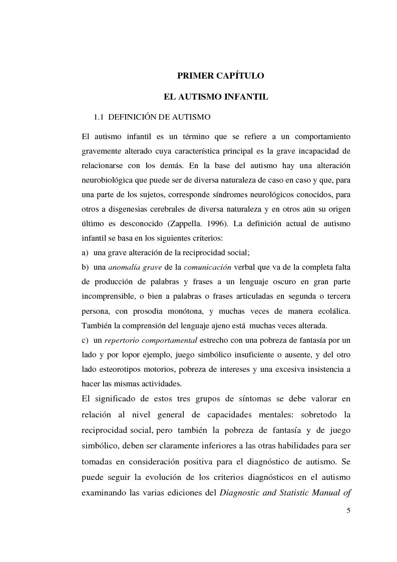 Anteprima della tesi: Autismo y vivencias familiares, Pagina 3