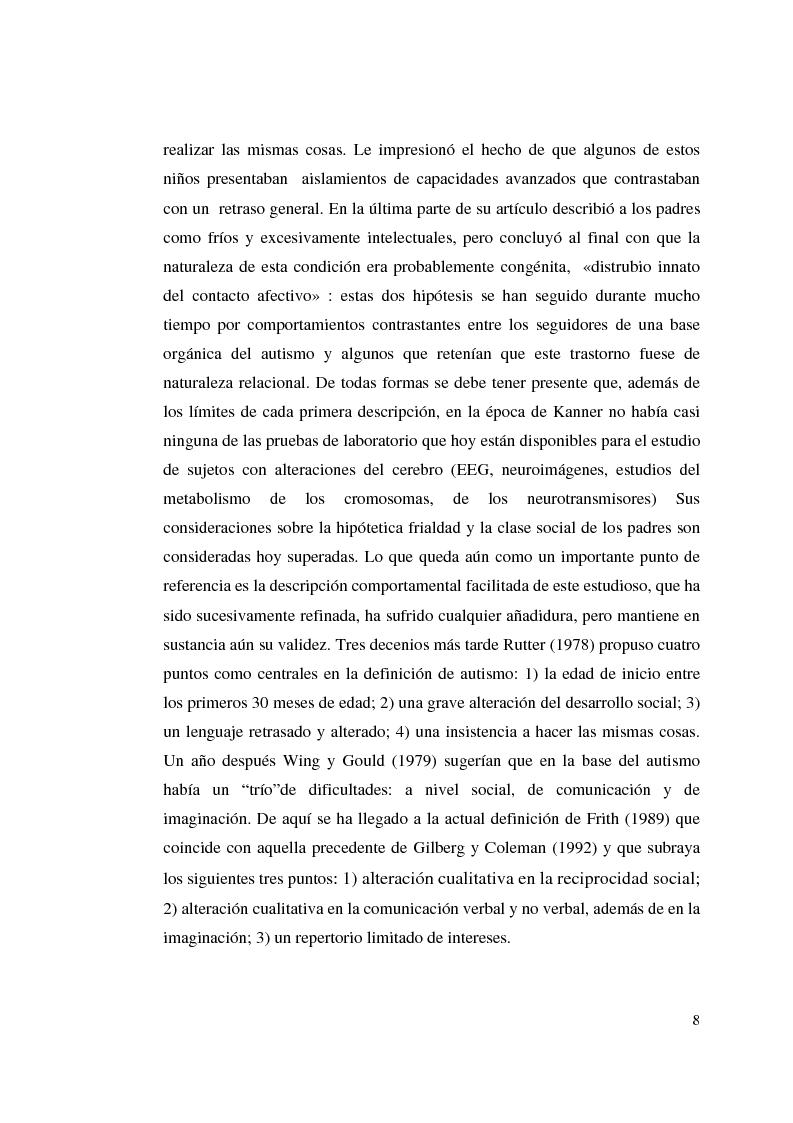 Anteprima della tesi: Autismo y vivencias familiares, Pagina 6