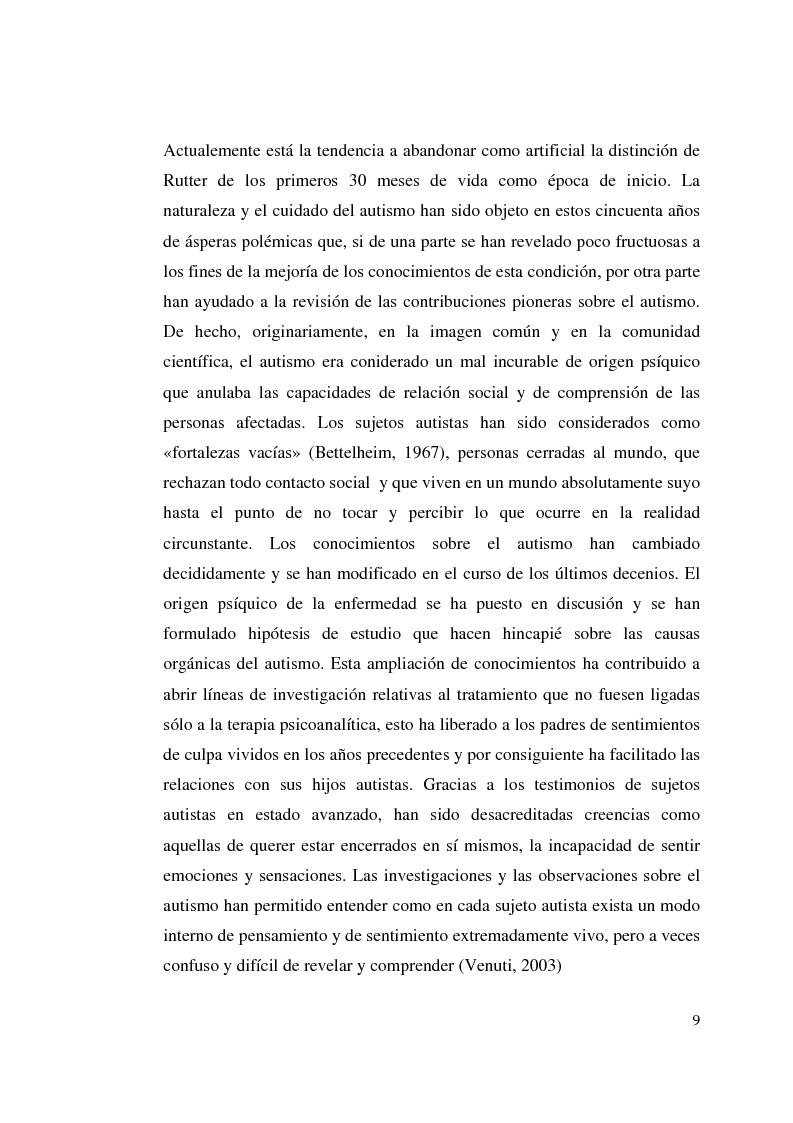 Anteprima della tesi: Autismo y vivencias familiares, Pagina 7