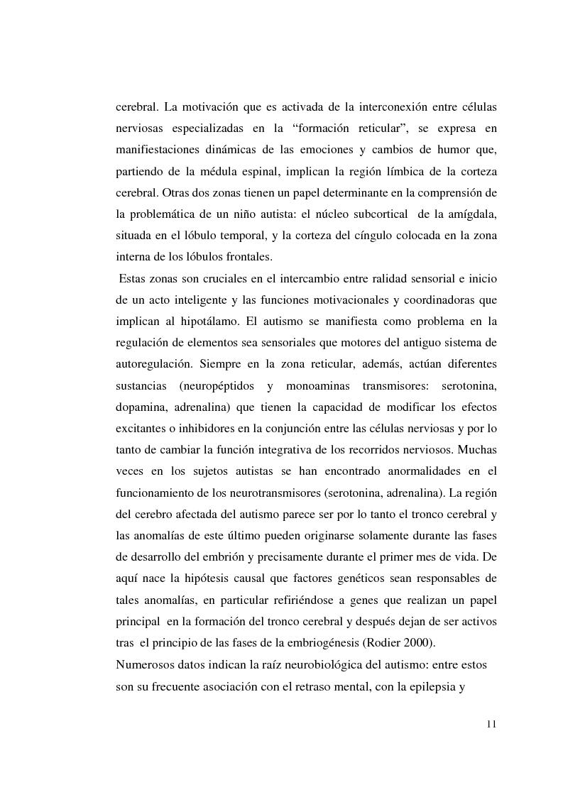 Anteprima della tesi: Autismo y vivencias familiares, Pagina 9