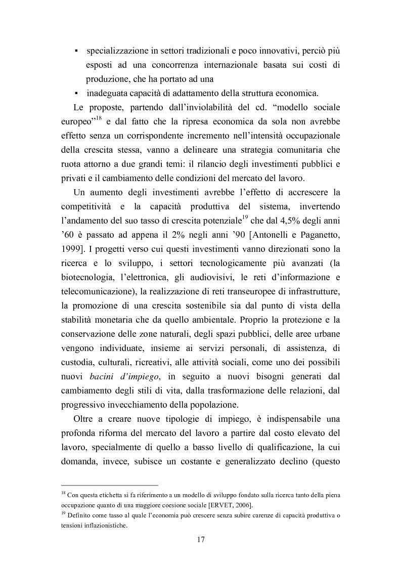 Anteprima della tesi: Le politiche del lavoro in un'ottica di genere, Pagina 11